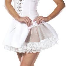 Lace+(White)+Petticoat+Adult+