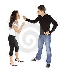 Couple's Quarrel Royalty Free