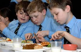 a free school meal as part