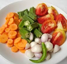 seasonal vegetables like