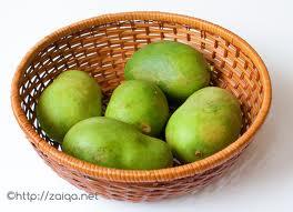 Unripe green mangoes ~ Kairi