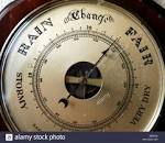 A barometer used for weather forecasting measuring the barometric ...