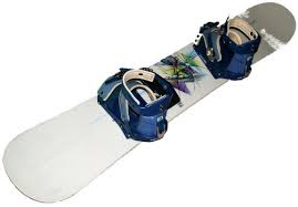White snowboard with