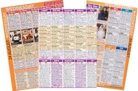 is the weekly TV listings