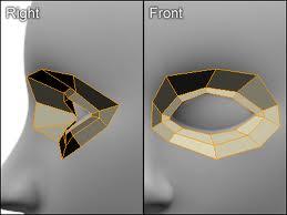 3D modeling an eye socket in