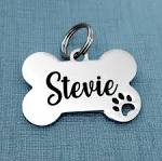 Pet ID Tags / Personalized Engraved Stainless Steel Pet Tag / Bone ...