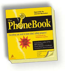 ... the phone book ...
