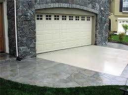 Patterned Driveway Concrete ...
