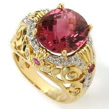 ... Pink Sapphire and Diamond Ring