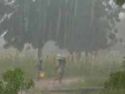 The rainy season which happens