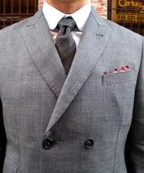 Double Breast suit lapel