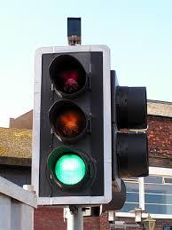 Traffic lights with sensor