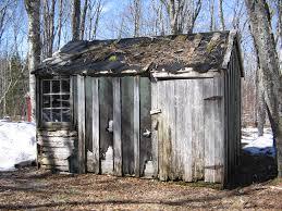 A rundown, empty shack.