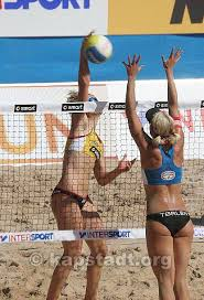 to beach volleyball semis