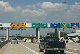 This toll plaza has seven