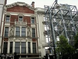 Behind the facade