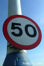 Picture of 50 mph Speed Limit