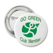 Go Green Club Member Button by