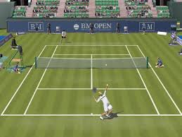 realistic 3D tennis game.