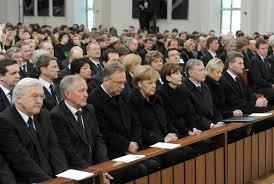 attend a memorial service