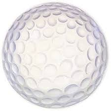 The dimples of a typical golf ball