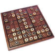 Wooden Sudoku Board Game