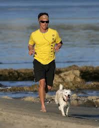 ... McConaughey takes a jog on the ...